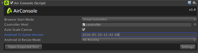 Adapt your Unity game for AirConsole on AndroidTv