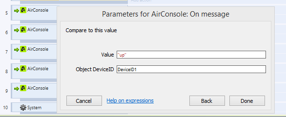 Create a Construct2 game for AirConsole