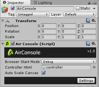 Create a local multiplayer game with Unity for AirConsole