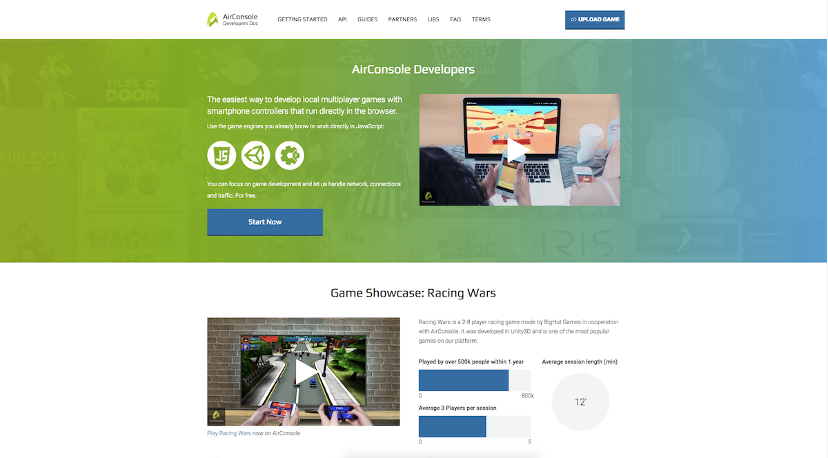 Learn how to make multiplayers games with the AirConsole api